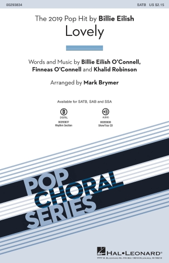 Lovely : SATB : Mark Brymer : Billie Eilish : Songbook & Online Audio : 00293834 : 888680939298