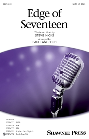Edge Of Seventeen : SATB : Paul Langford : Stevie Nicks : Sheet Music : 00294333 : 888680941376 : 1540053091