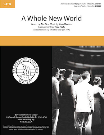 A Whole New World : SSAATTBB : Theo Hicks : Tim Rice : Sheet Music : 00295004 : 888680945480