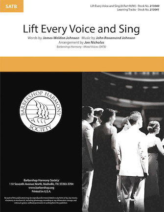 Lift Every Voice and Sing : SSAATTBB : Jon Nicholas : John Rosamond Johnson : Sheet Music : 00295008 : 888680945497