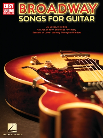 Product Cover for Broadway Songs for Guitar – Easy Guitar with Notes & Tab