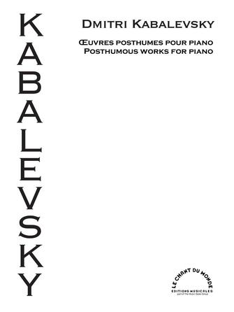 Product Cover for Posthumous Works for Piano