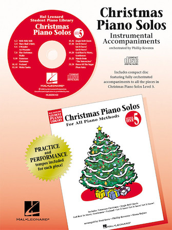 Product Cover for Christmas Piano Solos – Level 5 – CD