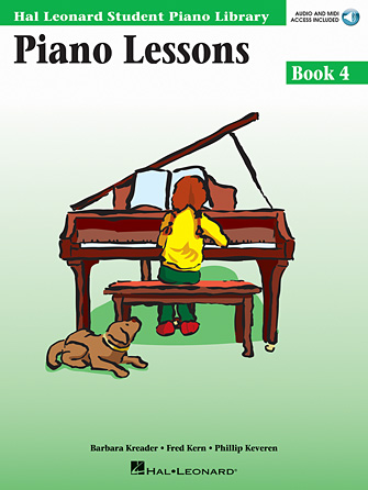 Product Cover for Piano Lessons Book 4 – Book with Online Audio