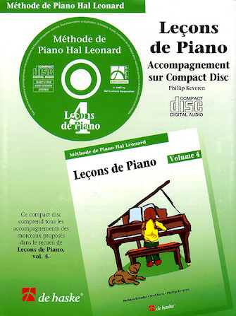 Product Cover for Piano Lessons Book 4 – CD – French Edition