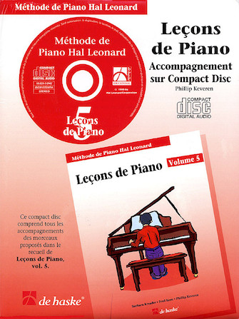 Product Cover for Piano Lessons Book 5 – CD – French Edition