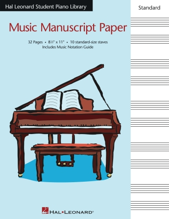 Product Cover for Hal Leonard Student Piano Library Standard Music Manuscript Paper