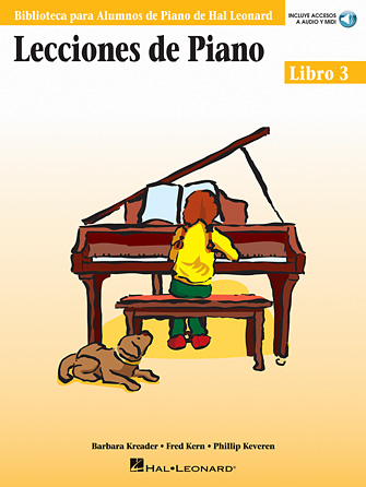 Product Cover for Piano Lessons Book 3 – Book/Online Audio – Spanish Edition