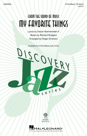 My Favorite Things : 3-Part Mixed : Roger Emerson : Richard Rodgers : Sheet Music : 00299555 : 888680956905
