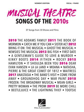Product Cover for Musical Theatre Songs of the 2010s: Women's Edition