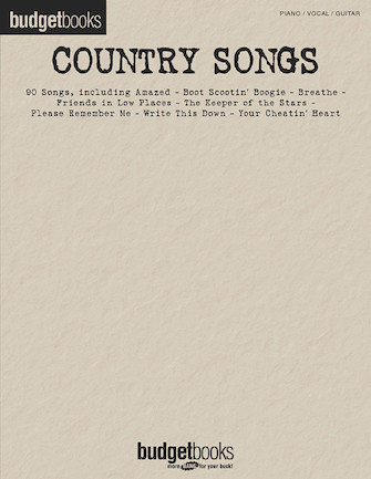 Product Cover for Country Songs