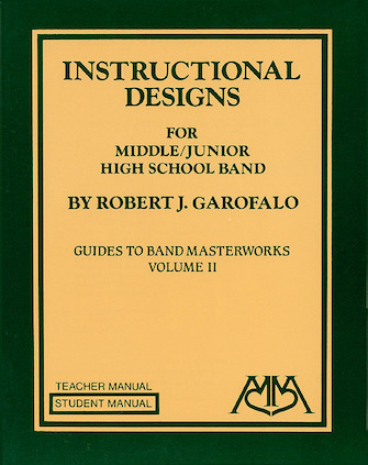 Product Cover for Instructional Designs for Middle/Junior High School Bands