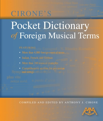 Product Cover for Cirone's Pocket Dictionary of Foreign Musical Terms