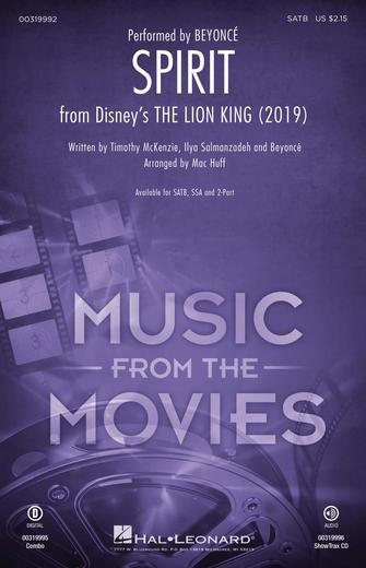 Spirit (from The Lion King 2019) : SATB : Mac Huff :  : The Lion King : Sheet Music : 00319992 : 888680974145