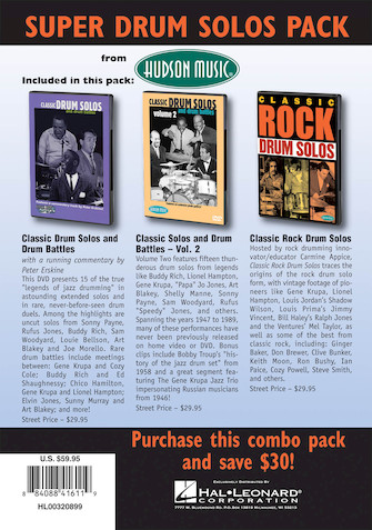 Product Cover for Super Classic Drum Pack 3-DVD Set