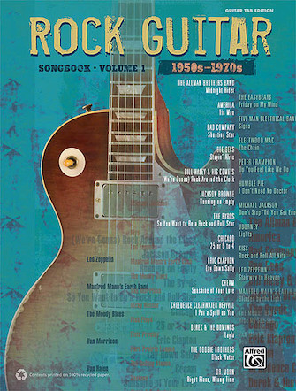 Product Cover for The Rock Guitar Songbook – Volume 1 (1950s-1970s)