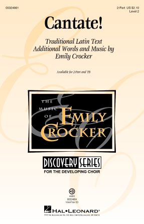 Cantate! : 2-Part : Emily Crocker : Emily Crocker : Sheet Music : 00324661 : 888680985134
