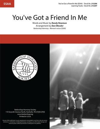 You've Got a Friend in Me : SSAA : Dan Wessler : Randy Newman : Sheet Music : 00325468 : 812817022126