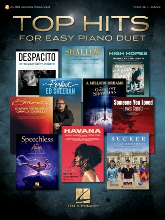 Product Cover for Top Hits for Easy Piano Duet with Recorded Accompaniments