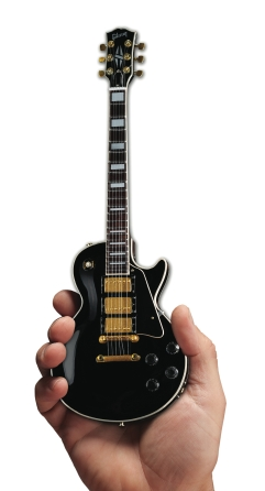 Product Cover for Gibson Les Paul Custom Ebony Mini Guitar Replica