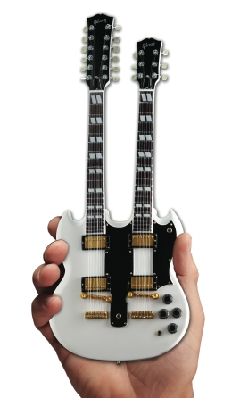 Product Cover for Gibson SG Eds-1275 Doubleneck White Mini Guitar Replica