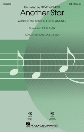 Another Star : SAB : Kirby Shaw : Stevie Wonder : Stevie Wonder : Sheet Music : 00329535 : 840126906004