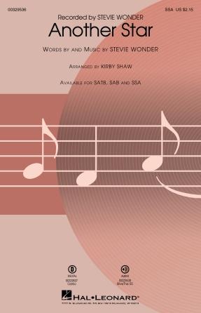 Another Star : SSA : Kirby Shaw : Stevie Wonder : Stevie Wonder : Sheet Music : 00329536 : 840126906011
