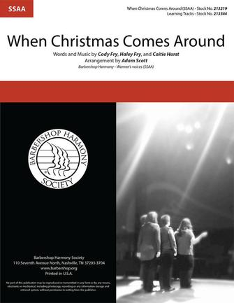 When Christmas Comes Around : SSAA : Adam Scott : Sheet Music : 00333985 : 812817022539