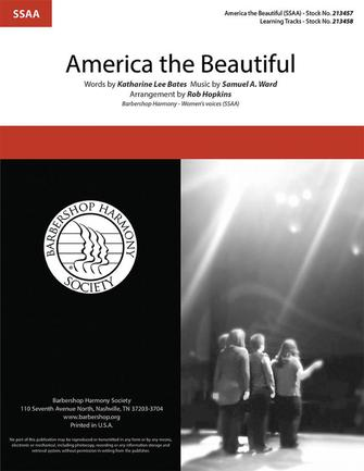 America, the Beautiful : SSAA : Rob Hopkins : Sheet Music : 00333988 : 840126911923