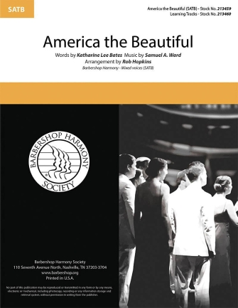 America, The Beautiful : SATB : Rob Hopkins  : Sheet Music : 00333989