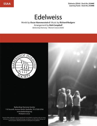 Edelweiss : SSAA : Rob Campbell : Richard Rodgers : Sheet Music : 00333995 : 812817022188