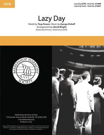 Lazy Day : SATB : David Wright  : Sheet Music : 00334018