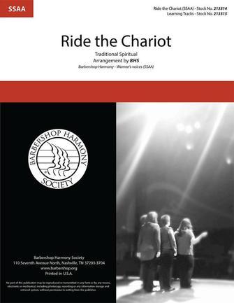 Ride the Chariot : SSAA : Barbershop Harmony Society : Sheet Music : 00334020 : 812817022317