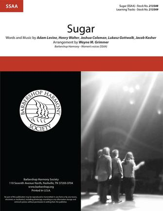 Sugar : SSAA : Wayne Grimmer : Maroon 5 : Sheet Music : 00334027 : 812817022447