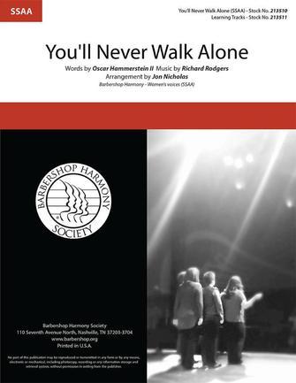 You'll Never Walk Alone : SSAA : Jon Nicholas : Richard Rodgers : Sheet Music : 00334034 : 812817022416