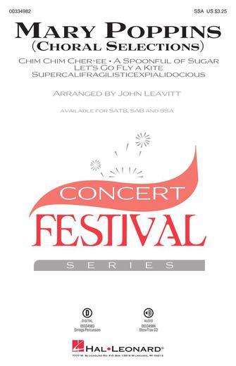 Mary Poppins (Choral Selections) : SSA : John Leavitt : Richard Sherman : Mary Poppins : Sheet Music : 00334982 : 840126910940