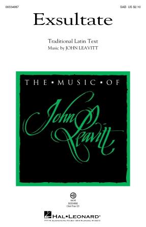 Exsultate : SAB : John Leavitt : John Leavitt : Sheet Music : 00334987 : 840126911107