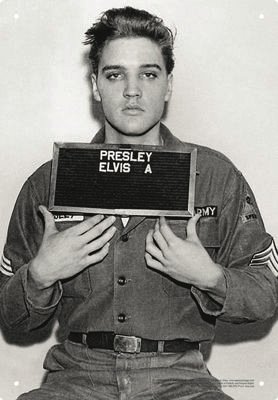 Product Cover for Elvis Enlistment Tin Sign