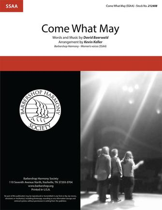 Come What May : SSAA : Kevin Keller : David Baerwald : Moulin Rouge : Sheet Music : 00337854 : 812817022614