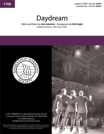Daydream : TTBB : Mel Knight : John Sebastian : Sheet Music : 00337855 : 812817020580