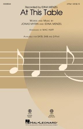 At This Table : 2-Part : Mac Huff : Idina Menzel : Sheet Music : 00338544 : 840126913606