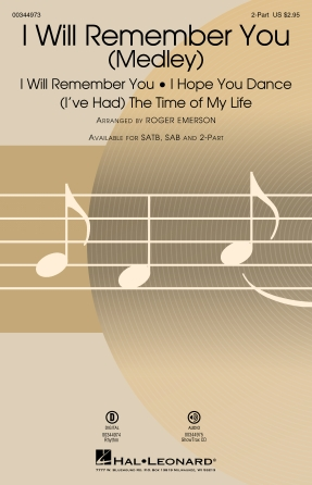 I Will Remember You (Medley) : 2-Part : Roger Emerson : Sheet Music : 00344973 : 840126918632