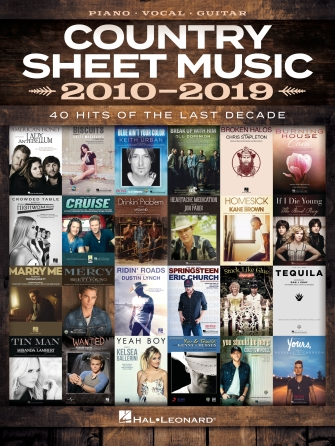 Product Cover for Country Sheet Music 2010-2019