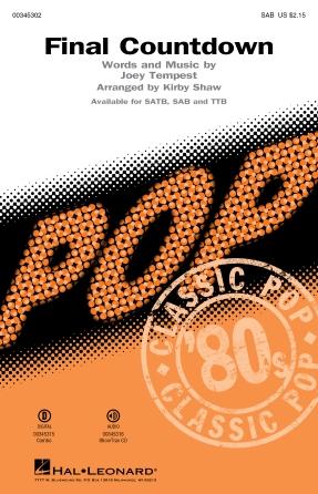 Final Countdown : SAB : Kirby Shaw : Joey Tempest : Europe : Sheet Music : 00345302 : 840126918908