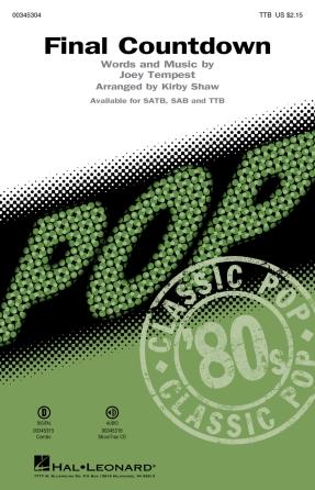 Final Countdown : TTB : Kirby Shaw : Joey Tempest : Europe : Sheet Music : 00345304 : 840126918922