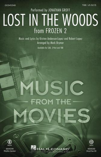 Lost in the Woods : TBB : Mark Brymer : Robert Lopez : Frozen 2 : Sheet Music : 00345348 : 840126919097
