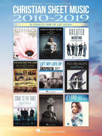 Product Cover for Christian Sheet Music 2010-2019