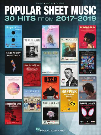 Product Cover for Popular Sheet Music – 30 Hits from 2017-2019
