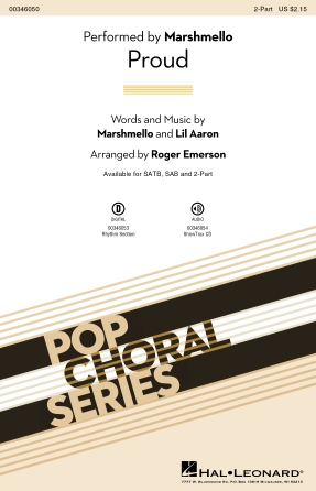 Proud : 2-Part : Roger Emerson : Marshmello : Sheet Music : 00346050 : 840126921793