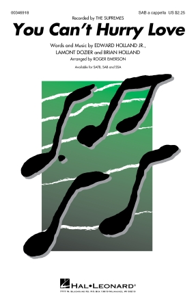 You Can't Hurry Love : SAB : Roger Emerson : Supremes : Sheet Music : 00346918 : 840126926132
